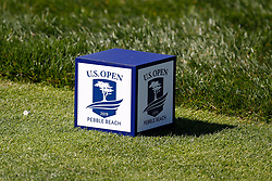 June 11, 2019 - Pebble Beach, CA, U.S. - PEBBLE BEACH, CA - JUNE 11: A close up view of the tee markers on the 5th hole seen during a practice round for the 2019 US Open on June 11, 2019, at Pebble Beach Golf Links in Pebble Beach, CA. (Photo by Brian Spurlock/Icon Sportswire) (Credit Image: © Brian Spurlock/Icon SMI via ZUMA Press)