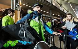 Luka Gracnar during departure of Slovenia Olympic Team for PyeongChang 2018, on February 6, 2018 in Airport Joze Pucnik, Brnik, Slovenia. Photo by Morgan Kristan / Sportida