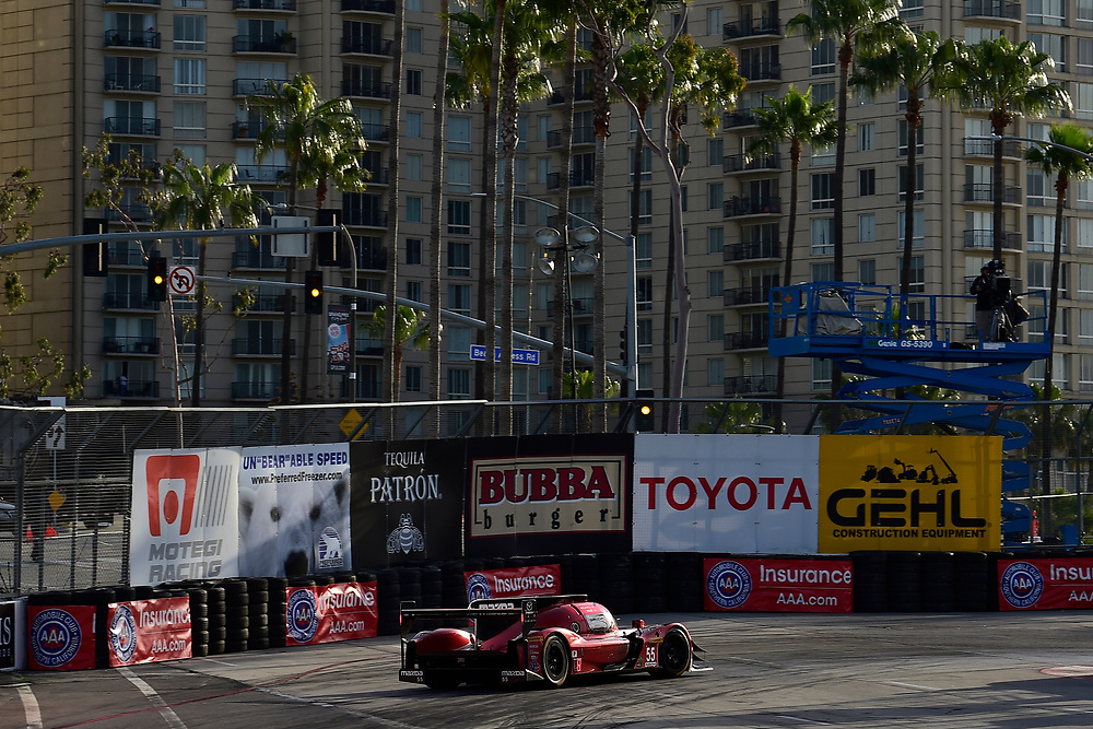 #55 Mazda Team Joest Mazda DPi, P: Jonathan Bomarito, Harry Tincknell<br /> Friday 13 April 2018<br /> BUBBA burger Sports Car Grand Prix at Long Beach<br /> Verizon IndyCar Series<br /> Streets of Long Beach CA USA<br /> World Copyright: Scott R LePage<br /> LAT Images