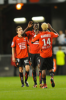 FOOTBALL - FRENCH CHAMPIONSHIP 2010/2011 - L1 - STADE RENNAIS v FC SOCHAUX - 11/09/2010 - PHOTO PASCAL ALLEE / DPPI -  JOY RENNES AT THE END GAME.