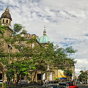 The facade of the Manila Cathedral in the walled city of Intramuros.