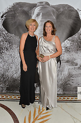 Left to right, BELINDA STEPHENSON and NICKY COE at the David Shepherd Wildlife Foundation 30th anniversary Wildlife Ball at The Dorchester, Park Lane, London on 10th October 2014.