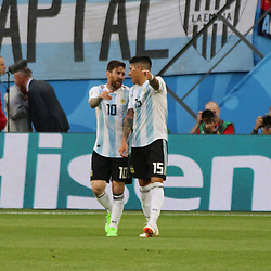 June 26, 2018 - St. Petersburg, Russia - June 26, 2018, Russia, St. Petersburg, FIFA World Cup 2018, First round, Group D, Third round. Football match of Nigeria - Argentina at the stadium of St. Petersburg. Player of the national team Lionel Messi. (Credit Image: © Russian Look via ZUMA Wire)