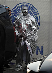 Kanye West dresses in silver body paint and a billowing silver robe as he appears at his latest opera in Miami. 08 Dec 2019 Pictured: Kanye West; Opera. Photo credit: MEGA TheMegaAgency.com +1 888 505 6342