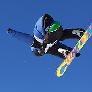 Joachim Krogstie, Norway, in action during the Men's Snowboard Slopestyle competition at Snow Park, New Zealand during the Winter Games. Wanaka, New Zealand, 21st August 2011. Photo Tim Clayton