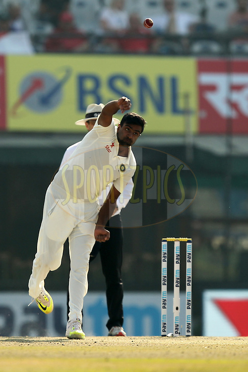 Ravichandran Ashwin of India bowls during day 3 of the third test match between India and England held at the Punjab Cricket Association IS Bindra Stadium, Mohali on the 28th November 2016.Photo by: Prashant Bhoot/ BCCI/ SPORTZPICS