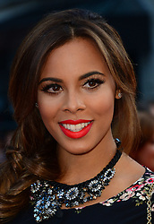 Rochelle Humes arriving for the world premiere of their film One Direction: This Is Us,<br /> London, United Kingdom.<br /> Tuesday, 20th August 2013.  Picture by Nils Jorgensen / i-Images