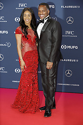 Jamaican sprinter Briana Williams (L) poses with her father Steven along the red carpet of the Laureus Sports Awards 2019 ceremony at the Sporting Monte-Carlo in Monaco on February 18, 2019. Photo by Marco Piovanotto/ABACAPRESS.COM