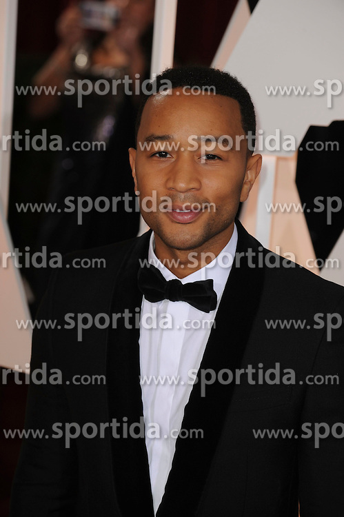 22.02.2015, Dolby Theatre, Hollywood, USA, Oscar 2015, 87. Verleihung der Academy of Motion Picture Arts and Sciences, im Bild John Legend // attends 87th Annual Academy Awards at the Dolby Theatre in Hollywood, United States on 2015/02/22. EXPA Pictures &copy; 2015, PhotoCredit: EXPA/ Newspix/ PGMP<br /> <br /> *****ATTENTION - for AUT, SLO, CRO, SRB, BIH, MAZ, TUR, SUI, SWE only*****