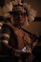 Shot in the dark on location in Borneo for a photo feature on Gawai Dayak, this gorgeous man combined dancing with an extraordinarily accurate blowpipe demonstration. He was also our host.<br />