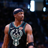 01 April 2018: Milwaukee Bucks guard Jason Terry (3) is seen during the Denver Nuggets 128-125 victory over the Milwaukee Bucks, at the Pepsi Center, Denver, Colorado, USA.