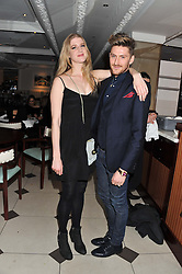 GILLIAN ORR and HENRY HOLLAND at a party hosted by TopShop to celebrate 10 years of NEWGEN and 10 years of supporting Brtish Fashion held at Le Baron, 29 Old Burlington Street, London W1 on 21st February 2012.