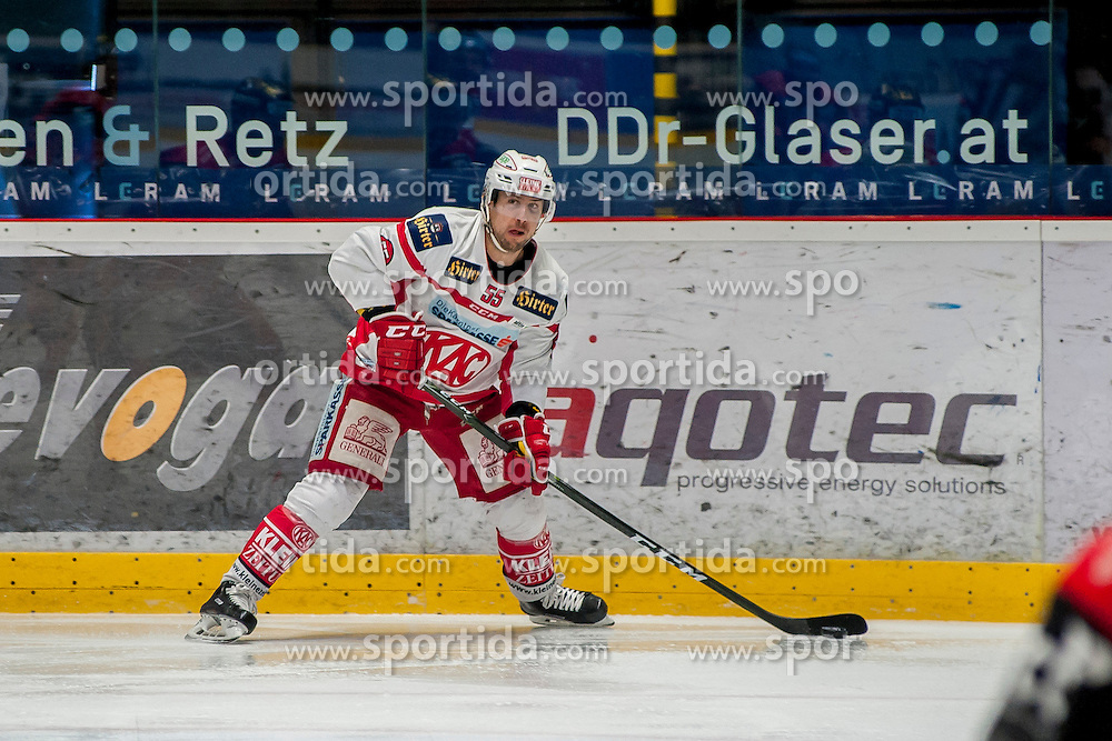 28.02.2017, Ice Rink, Znojmo, CZE, EBEL, HC Orli Znojmo vs EC KAC, Viertelfinale, 2. Spiel, im Bild Mitja Robar (EC KAC) // during the Erste Bank Icehockey League 2nd quarterfinal match between HC Orli Znojmo and EC KAC at the Ice Rink in Znojmo, Czech Republic on 2017/02/28. EXPA Pictures © 2017, PhotoCredit: EXPA/ Rostislav Pfeffer