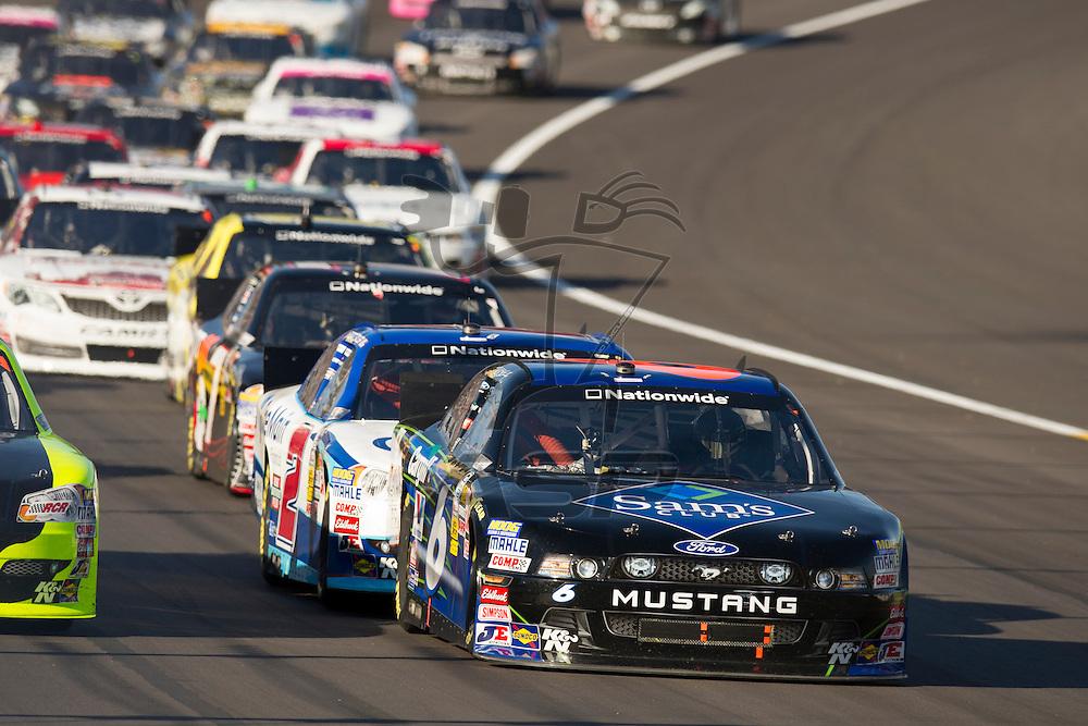 Kansas City, KS - OCT 20, 2012:  The NASCAR Nationwide Series teams take to the track for the Kansas Lottery 300 at Kansas Speedway in Kansas City, KS.