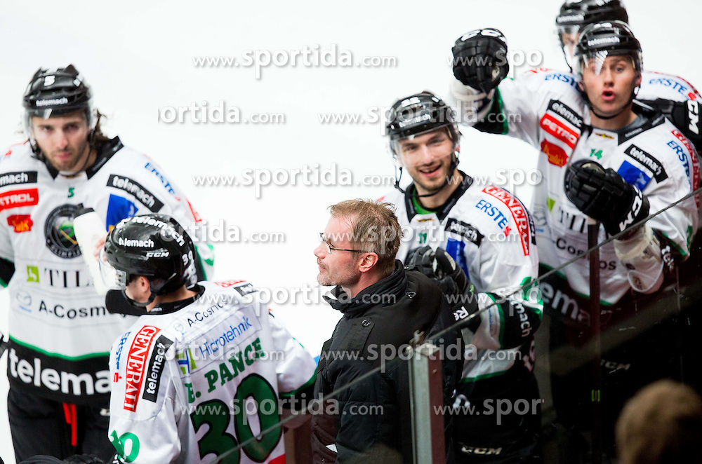 Ivo Jan of Olimpija during ice hockey game between Team Jesenice and HDD Telemach Olimpija in 1st leg of Finals of Slovenian National Championship 2014, on March 31, 2014 in Arena Podmezakla, Jesenice, Slovenia. Photo by Vid Ponikvar / Sportida