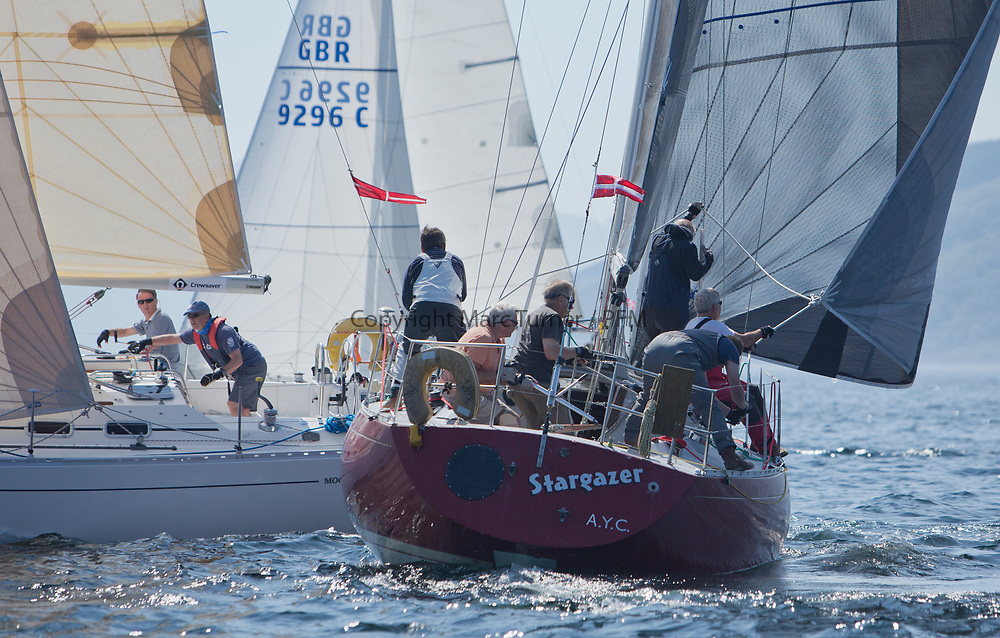 Silvers Marine Scottish Series 2017<br /> Tarbert Loch Fyne - Sailing<br /> <br /> `GBR4203, Stargazer, A Bilsland /A Campbell, Arran Yacht Club, Grand Soleil 34