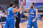 DESCRIZIONE : Qualificazioni EuroBasket 2015 Russia-Italia  <br /> GIOCATORE : Alessandro Gentile Luigi Datome<br /> CATEGORIA : nazionale maschile senior A <br /> GARA : Qualificazioni EuroBasket 2015 - Russia-Italia<br /> DATA : 13/08/2014 <br /> AUTORE : Agenzia Ciamillo-Castoria