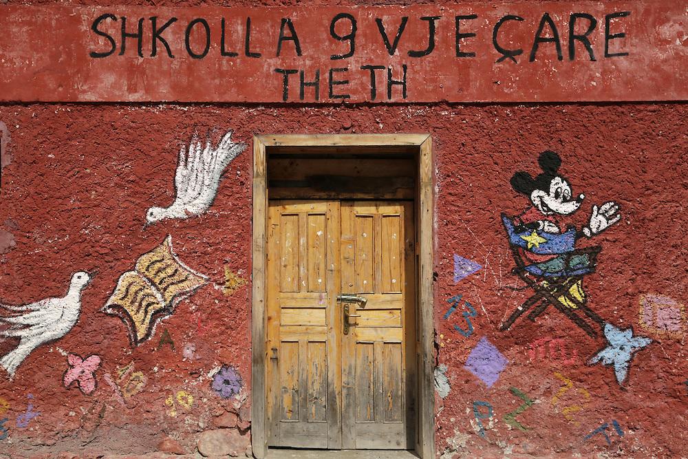 Theth village school, Albania.