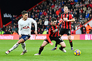Lewis Cook (16) of AFC Bournemouth tries to get away from Erik Lamela (11) of Tottenham Hotspur during the Premier League match between Bournemouth and Tottenham Hotspur at the Vitality Stadium, Bournemouth, England on 11 March 2018. Picture by Graham Hunt.