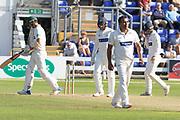 WICKET - Samit Patel has Chris Wright stumped during the Specsavers County Champ Div 2 match between Glamorgan County Cricket Club and Leicestershire County Cricket Club at the SWALEC Stadium, Cardiff, United Kingdom on 18 September 2019.
