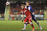 Picture by David Horn/Focus Images Ltd +44 7545 970036.16/10/2012.Dean Cox of Leyton Orient and Jonathan Franks of Hartlepool United during the npower League 1 match at the Matchroom Stadium, London.