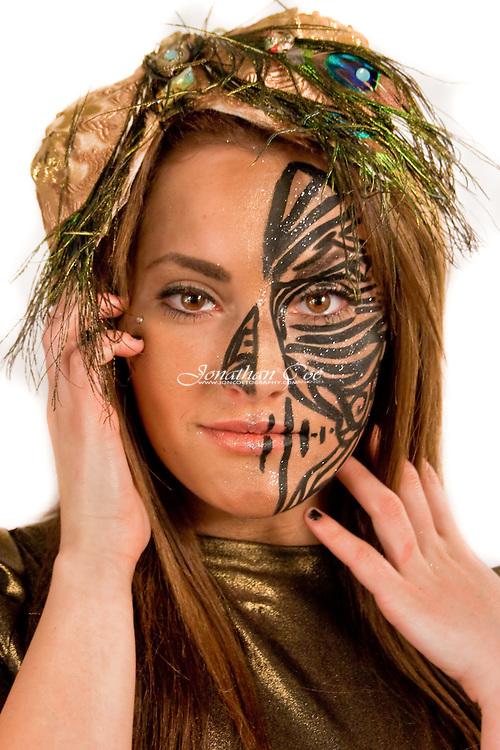 Clothing &amp; Accessories: Dynami Al-Anjeri Couture<br /> Model: Kelsie Marilynn<br /> Makeup: Jaime Phenne