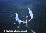 Aerial of Clarion River, Cook Forest State Park, Jefferson/Forest Counties, PA
