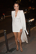 ALESSANDRA AMBROSIO  - ARRIVE TO DINNER AT BALMAIN LAPEROUSE RESTAURANT<br /> ©Exclusivepix Media