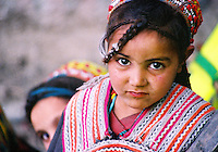 Pakistan, Northwest Frontier Province, 2004.  As young Kalash women, Masran and Farida will have considerably more freedom that their Pakistani Muslim counterparts when they grow up.