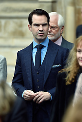 Jimmy Carr leaves Westminster Abbey, London, following the Service of Thanksgiving for Sir Terry Wogan.