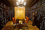 State Tower. Mezzaluna Restaurant. The wine locker.