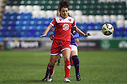 Angharad James during the Women's FA Cup fourth round match between Everton Ladies and Bristol Academy ladies at the Select Securities Stadium, Widnes, United Kingdom on 24 March 2015. Photo by Andrew Morfett.