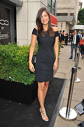 AMANDA SHEPPARD at a party to launch the Gucci designed Fiat 500 customized by Gucci Creative Director Frida Giannini in collaboration with FIAT's Centro Stile, held at Fiat, 105 Wigmore Street, London on 27th June 2011.