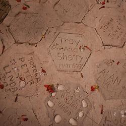 Pavers with Honeymooners' Names, Turtle Island, Yasawa Islands, Fiji