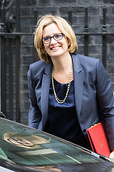Downing Street, London, April 19th 2016. Energy Secretary Amber Rudd arrives at Downing Street for the weekly cabinet meeting.
