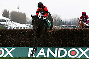 Rene's Girl ridden by Harry Skelton  would go on to finish second in the The Betway Bowl Steeple Chase  at Aintree, Liverpool, United Kingdom on 12 April 2018. Picture by Craig Galloway.