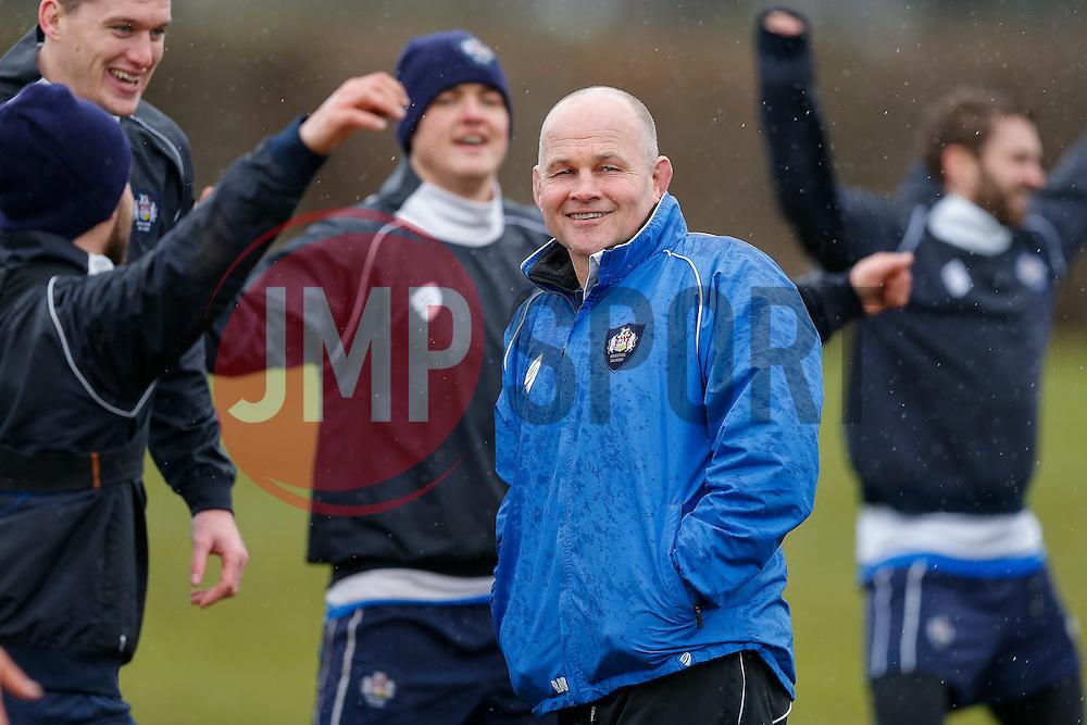 Bristol Director of Rugby Andy Robinson overseas training - Photo mandatory by-line: Rogan Thomson/JMP - 07966 386802 - 13/02/2015 - SPORT - RUGBY UNION - Bristol, England - Bristol Rugby Club Training Ground, Station Road, Henbury - Training Session.