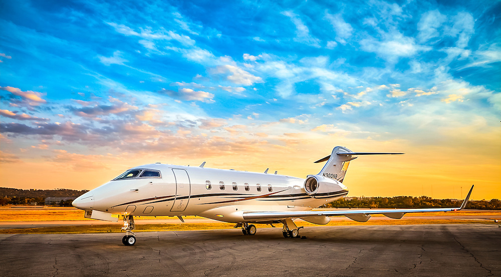 Bombardier Challenger 300 owned by the Nelson Brothers company in Birmingham, Alabama.  <br />