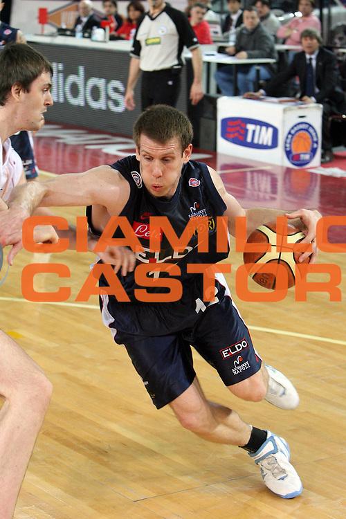 DESCRIZIONE : Napoli Lega A1 2006-07 Lottomatica Virtus Roma Eldo Napoli<br /> GIOCATORE : Rocca<br /> SQUADRA : Eldo Basket Napoli<br /> EVENTO : Campionato Lega A1 2006-2007 <br /> GARA : Lottomatica Virtus Roma Eldo Napoli<br /> DATA : 25/03/2007 <br /> CATEGORIA : Palleggio Penetrazione<br /> SPORT : Pallacanestro <br /> AUTORE : Agenzia Ciamillo-Castoria/E.Castoria<br /> Galleria : Lega Basket A1 2006-2007 <br /> Fotonotizia : Napoli Campionato Italiano Lega A1 2006-2007 Lottomatica Virtus Roma Eldo Napoli<br /> Predefinita :