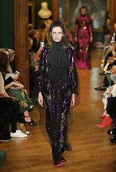 Models on the catwalk during the Erdem Autumn/Winter 2019 London Fashion Week show at The National Portrait Gallery, London.