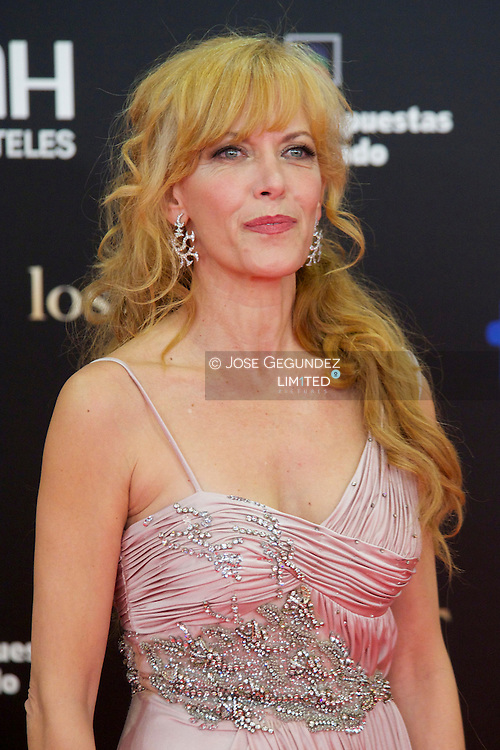 Carme Conesa arrives to Goya Cinema Awards 2013 ceremony, at Auditorium Hotel on February 17, 2013 in Madrid, Spain