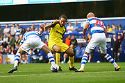 Burton Albion striker Sean Scannell (9) during the EFL Sky Bet Championship match between Queens Park Rangers and Burton Albion at the Loftus Road Stadium, London, England on 23 September 2017. Photo by John Potts.