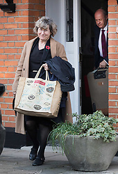 """© Licensed to London News Pictures. 02/11/2017. LONDON, UK.  DAMIAN GREEN, First Secretary of State and Minister for the Cabinet Office and his wife leaving his home in west London this morning. Prime Minister Theresa May's deputy, Damian Green has said allegations of inappropriate advances towards a female activist before he joined the cabinet are """"completely false"""". Tory activist Kate Maltby has claimed that that Damian Green """"fleetingly"""" touched her knee in a pub in 2015, and in 2016 sent her a """"suggestive"""" text message.  Photo credit: Vickie Flores/LNP"""