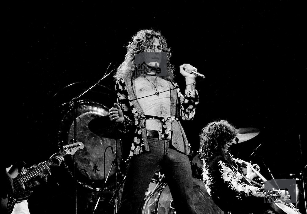 Robert Plant  and Jimmy Page - Led Zeppelin - Earls Court Arena in London in May 1975