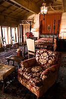 Hearst Castle Bedroom on Casa Grade North Tour Three, San Simeon, California