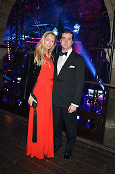 LORD & LADY JAMES RUSSELL at the Sugarplum Dinner - The event was for the launch of Sugarplum Children, a new website and fundraising initiative for children who live with type 1 diabetes, and to raise money for JDRF (Juvenile Diabetes Research Foundation) held at One Mayfair, 13A North Audley Street, London on 20th November 2013.