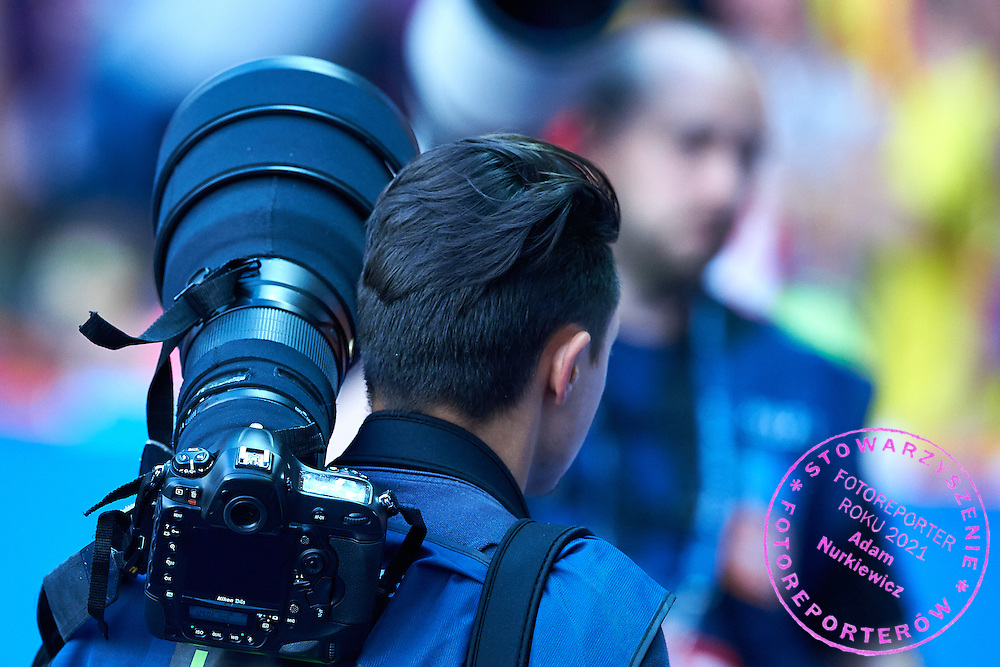 Nikon D4s camera during the 2014/15 UEFA Champions League Final between Juventus and FC Barcelona at Olympiastadion on June 6, 2015 in Berlin, Germany.<br /> Germany, Berlin, June 6, 2015<br /> <br /> Picture also available in RAW (NEF) or TIFF format on special request.<br /> <br /> For editorial use only. Any commercial or promotional use requires permission.<br /> <br /> Adam Nurkiewicz declares that he has no rights to the image of people at the photographs of his authorship.<br /> <br /> Mandatory credit:<br /> Photo by &copy; Adam Nurkiewicz / Mediasport