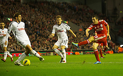 05.11.2011, Anfield Stadion, Liverpool, ENG, Premier League, FC Liverpool vs Swansea City, im Bild Liverpool's Stewart Downing in action against Swansea City  // during the premier league match between FC Liverpool vs Swansea City at Anfield Stadium, Liverpool, EnG on 05/11/2011. EXPA Pictures © 2011, PhotoCredit: EXPA/ Propaganda Photo/ David Rawcliff +++++ ATTENTION - OUT OF ENGLAND/GBR+++++