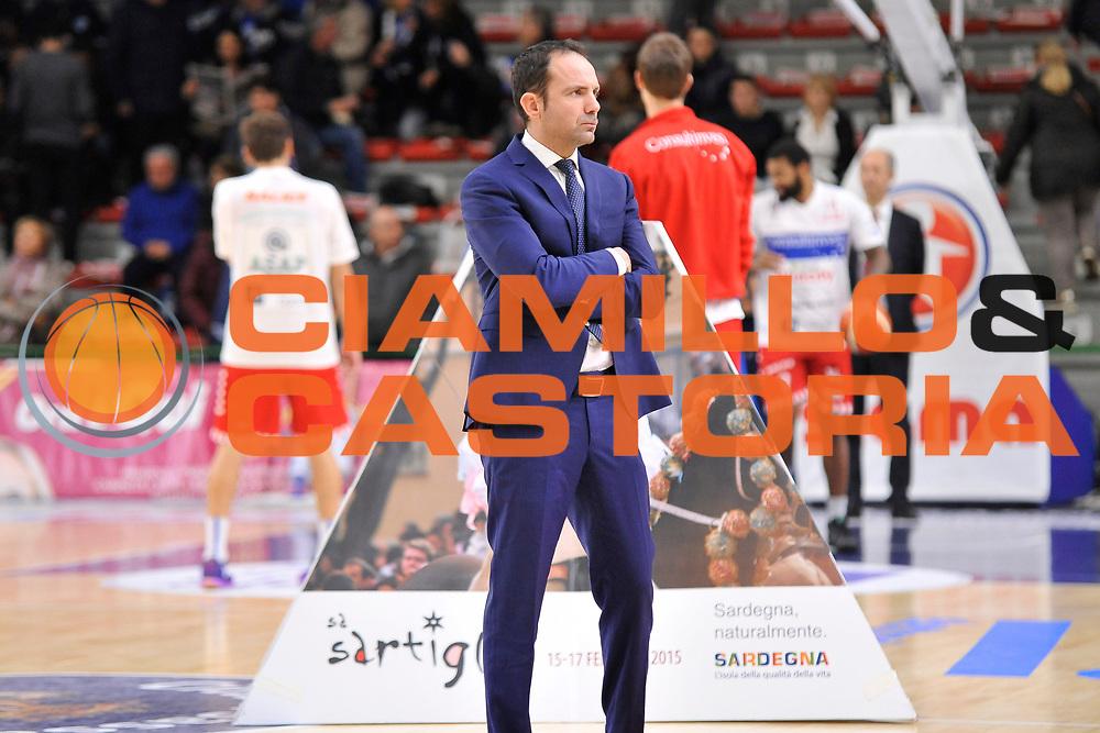DESCRIZIONE : Campionato 2015/16 Serie A Beko Dinamo Banco di Sardegna Sassari - Consultinvest VL Pesaro<br /> GIOCATORE : Paolo Citrini<br /> CATEGORIA : Before Pregame <br /> SQUADRA : Dinamo Banco di Sardegna Sassari<br /> EVENTO : LegaBasket Serie A Beko 2015/2016<br /> GARA : Dinamo Banco di Sardegna Sassari - Consultinvest VL Pesaro<br /> DATA : 23/11/2015<br /> SPORT : Pallacanestro <br /> AUTORE : Agenzia Ciamillo-Castoria/C.Atzori