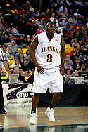 24 November 2005:  University of Alaska Anchorage senior guard Kemmy Burgess in the UAA Seawolves 60-65 loss to the South Carolina Gamecock's in the first round of the Great Alaska Shootout at the Sullivan Arena in Anchorage Alaska.